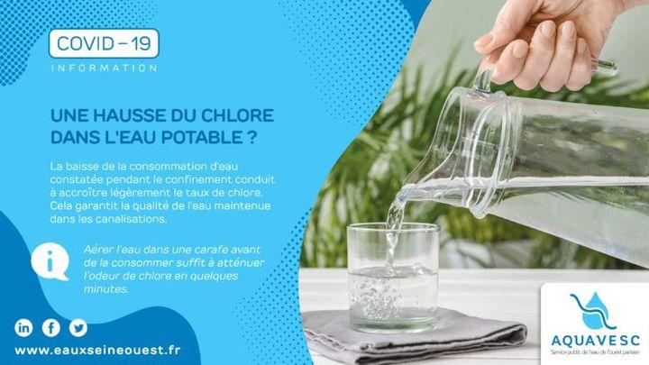 de chlore dans l eau du robinet pendant