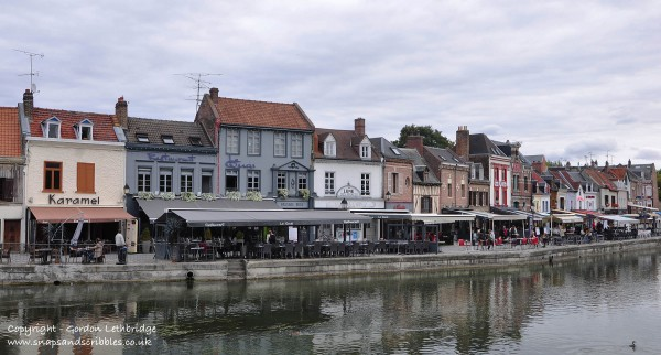Medieval St Leu with its riverside cafes and restaurants