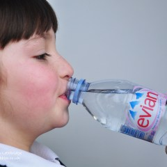 Evian and water