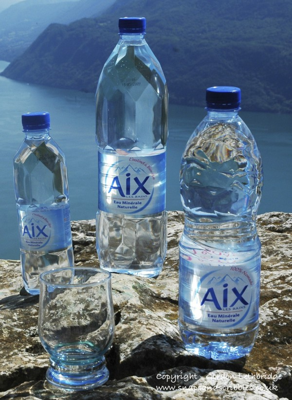 Mineral water from Aix-les-Bains is great for an aperitif