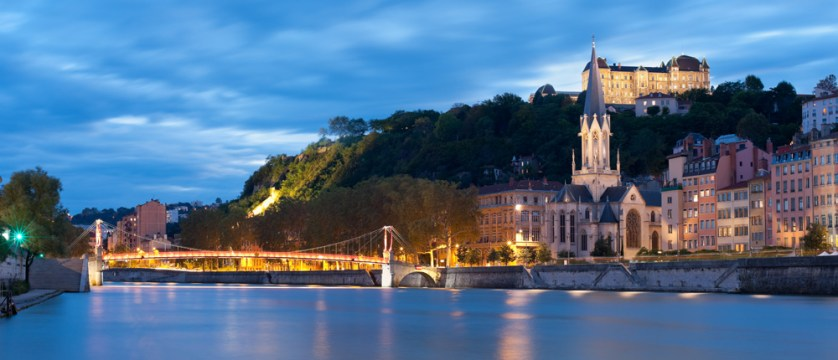 The River Saone, one of Lyon's two rivers