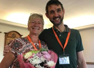 David Meanwell with RAH Stockport CareGiver