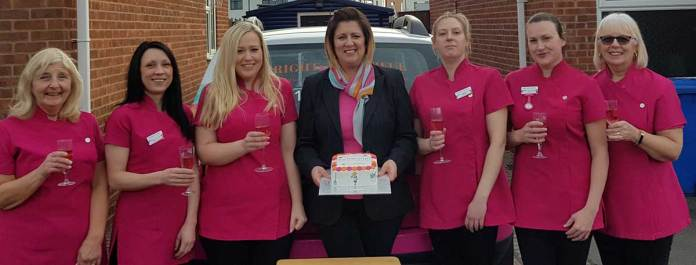 Toni Hibbert Bright Beautiful Derby celebrates her one year anniversary with her trusted team of professional housekeepers