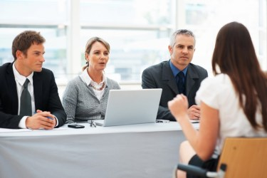 Woman in executive meeting or interview