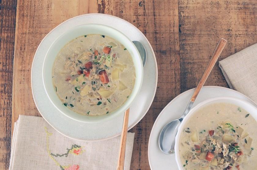 receita sopa de vongole clam chowder