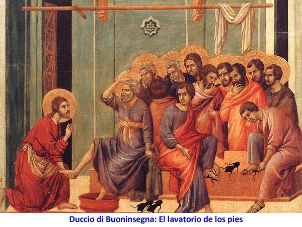Duccio di Buoninsegna: El lavatorio de los pies