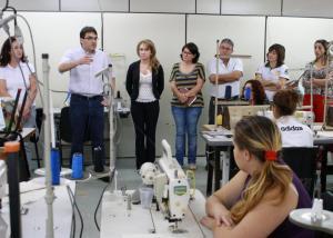 Prefeito Cantelmo Neto e secretários Jovelina Chaves, Ana Lucia Manfrói e Luiz Geremia visitaram as turmas