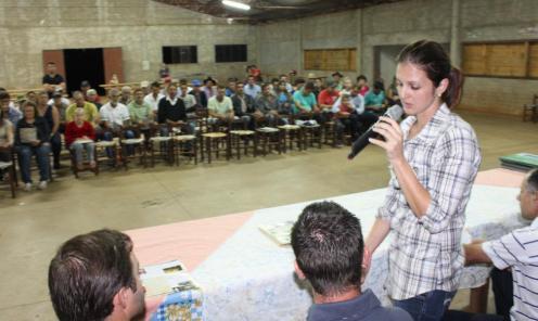 Secretária Daniela Celuppi: foco do programa é sanidade, logística e apoio técnico