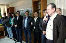 Chico Comunello, presidente da associação de moradores do Água Branca