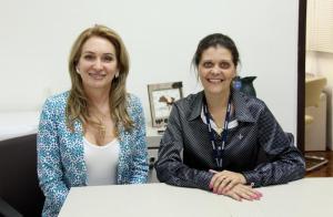 Jovelina Chaves e Claudia Cabral; evento é parceria do Centro Empresarial com o Sebrae