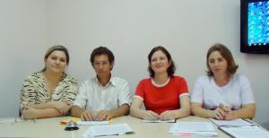 Dalva Zago, Ozório Borges, Tania Mara e Maristella Piloneto, nova mesa diretora