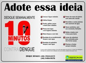 Campanha incentiva colaboração da população no combate à doença