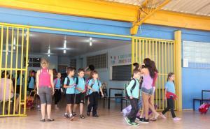 A Escola São Cristóvão esteve movimentada ano primeiro dia do ano letivo