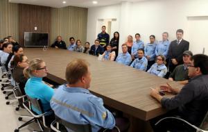 No encontro, prefeito Neto agradeceu o trabalho de controle do trânsito desempenhado pelos agentes