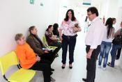 Acompanhado da secretária de Saúde, Rose Mari Guarda, Neto visitou a Upa para colher sugestões de melhorias na rede de saúde
