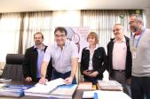 Assinatura do contrato oficializou a inclusão de Beltrão no revezamento da tocha