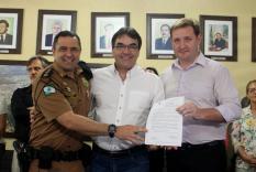 Com mj. Samir Wassouf e dr. Valderez Scalco, prefeito Cantelmo Neto autorizou a doação de terreno avaliado em R$ 2,9 mi no prolongamento da Julio Assis para construção da Delegacia Cidadã