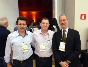 Rudi Czerniaski (Debetran), Valdeci Priester (Ciretran) e Marcos Traad (Detran-PR), no encontro nacional da AND, em Foz