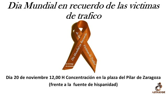 Día Mundial en Recuerdo de las víctimas por accidentes de tráfico