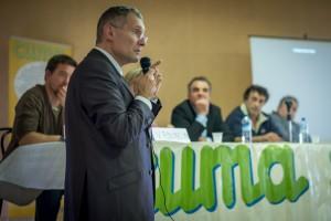 Franck Montaugé, vendredi à Marsan, lors de l'assemblée générale de la fédération des Cuma. ©franckmontauge.fr