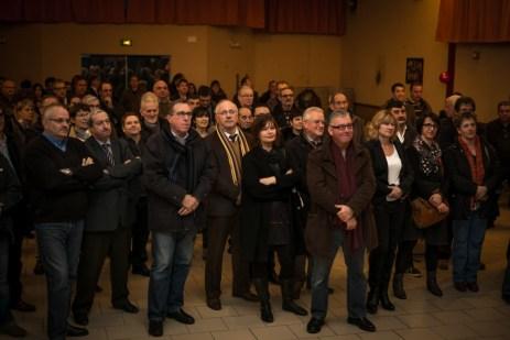 Dans la salle polyvalente de Lasseube-Propre, pour les voeux de Val-de-Gers, le 23 janvier 2015. ©franckmontauge.fr