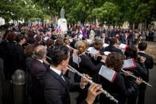 Le Chant des partisans a retenti sur la place Salinis. ©franckmontauge.fr