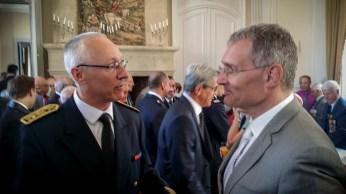 Pierre Ory, préfet du Gers et Franck Montaugé, sénateur et maire d'Auch. ©franckmontauge.fr