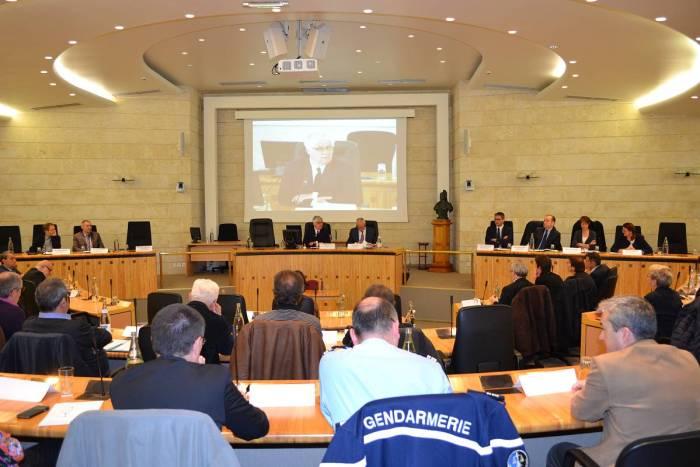 L'hémicycle du conseil départemental, lundi 4 avril 2016. ©franckmontauge.fr