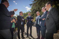 Avec Stéphane Richard, Pdg d'Orange à son arrivée à Biran. ©franckmontauge.fr