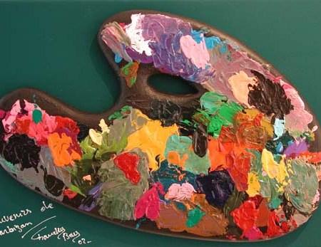"""""""Souvenir de Barbizon"""" - 55 x 46 - Bas-relief - 2002 - Galerie Piltzer Campagne - Barbizon"""
