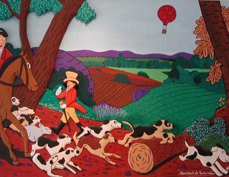 """""""Monsieur de Fontainblue"""" - 162 x 130 - Bas-relief sur toile - 2002 - Galerie Piltzer Campagne - Barbizon"""