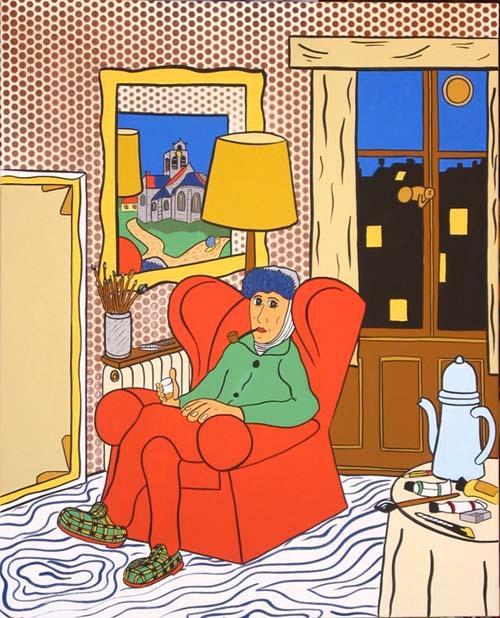 """""""Vincent, Francky et les Autres... """" - 100cm X 81cm - Acrylique sur toile - 2003 -"""