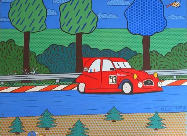 « 1′43″726 » – Acrylique sur toile – 2004