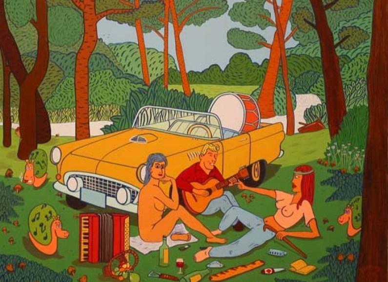 « Le Déjeuner » – Acrylique sur toile – 2006