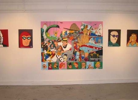"""Exposition Espace Beaurepaire - Mars 2003 - """"Choc"""" - """"Huuummm"""" - """"J'ai tout Schtroumphé"""" - """"Peter Brady"""" - """"Hhiiiiiiii"""" - A voir aussi dans la rubrique """"2002 - Portrait"""""""