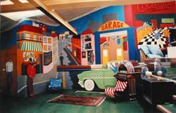 Réalisation d'une fresque chez Coluche ( Détail ) - 1983 / 84 -