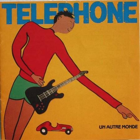 """Réalisation de la pochette de l'album """"Un Autre Monde"""" pour le groupe Téléphone - Photo jean Baptiste Mondino"""