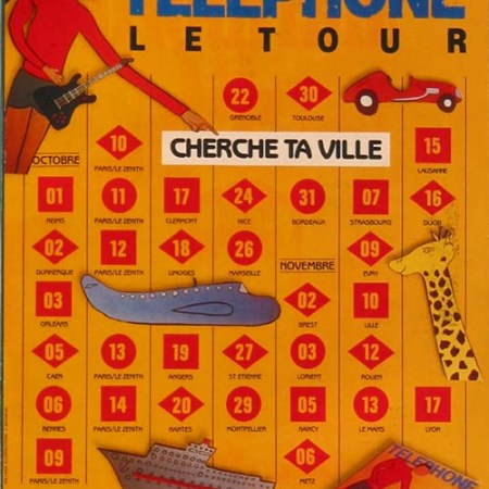 Décors et promo de la tournée de Téléphone - 1984