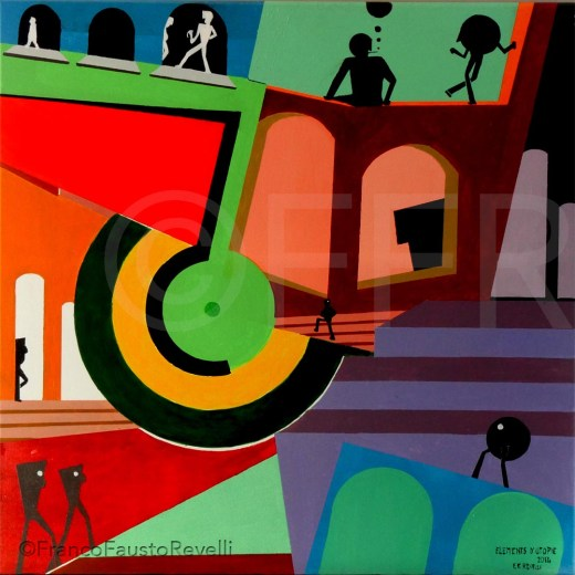 ÉLÉMENTS D'UTOPIE Acrilico su tela, Acrylique sur toile Acrylic 2014
