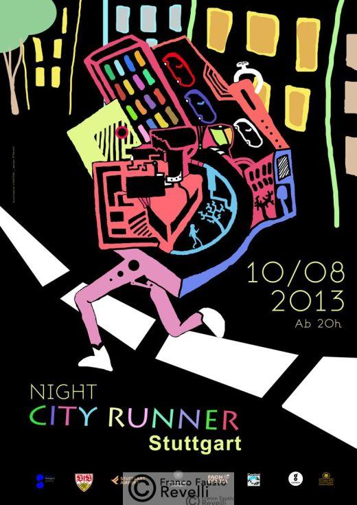NIGHT CITY RUNNER STUTTGARD | poster, 2013
