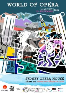 WORDL OF OPERA EVENT, SYDNEY | Poster, 2004