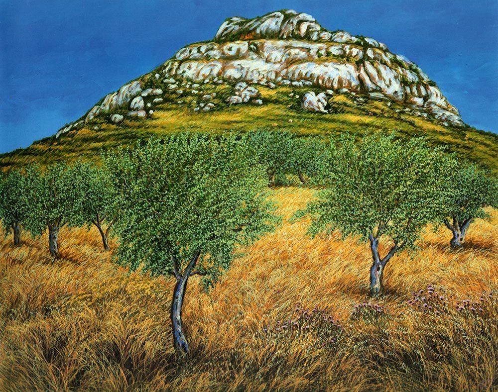 Nemea. il paesaggio di Ercole - olio su tela cm 100x80 anno 2001