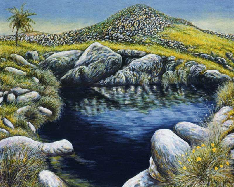 Isola di Delos. La culla di Apollo - olio su tela cm 100x80 anno 2001
