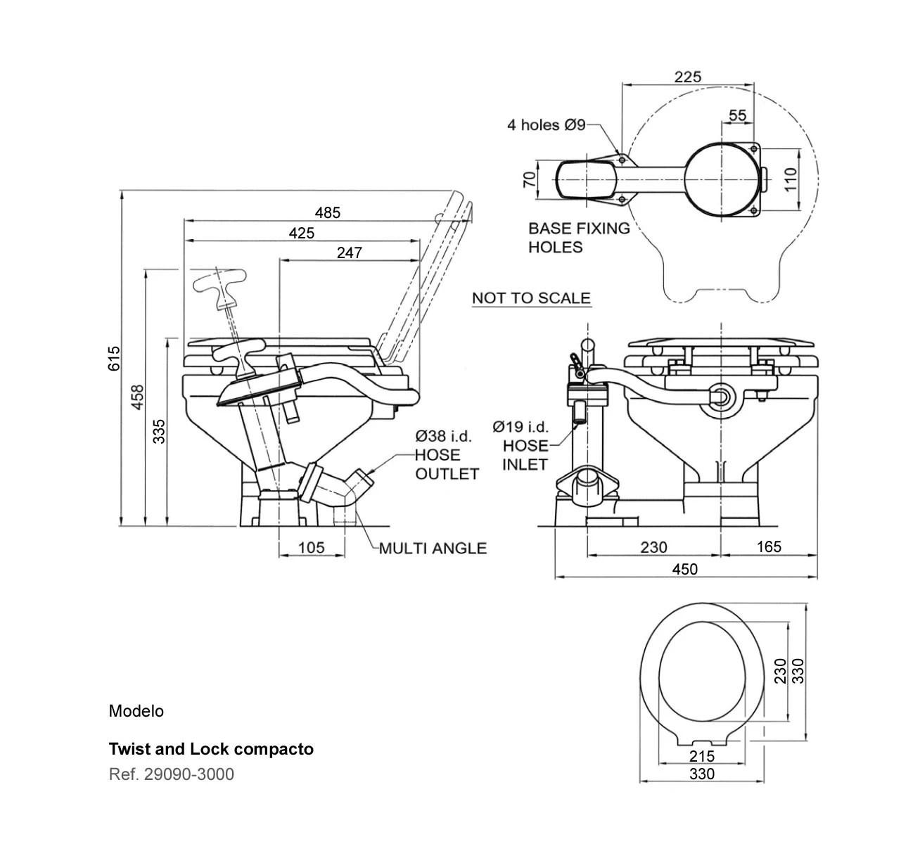 Jabsco Toilet Wc Manual Compact Twist And Lock Gt Plumbing