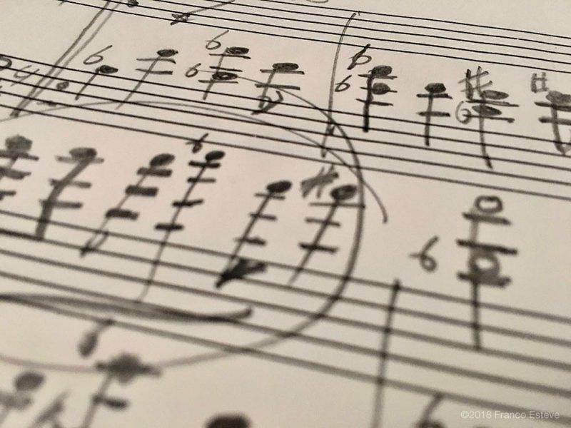 Franco Esteve handwritten music notation