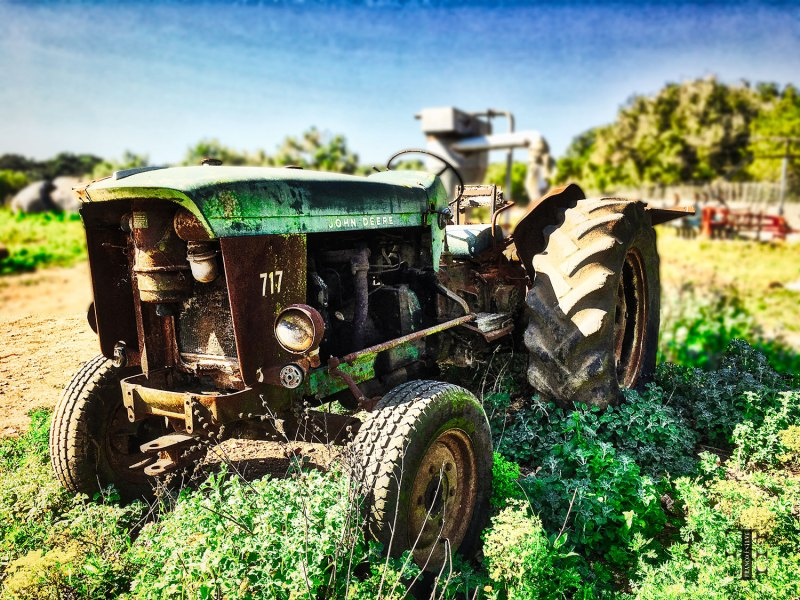 My rusted heart still roars tractor photograph by Franco Esteve