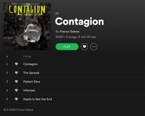 Contagion on Spotify Playlist Image
