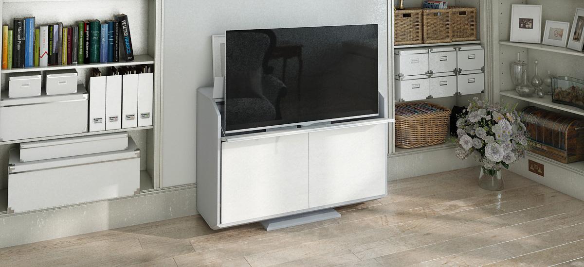 لو استطعت شاكوش كنتيجة ل meuble pour tv escamotable