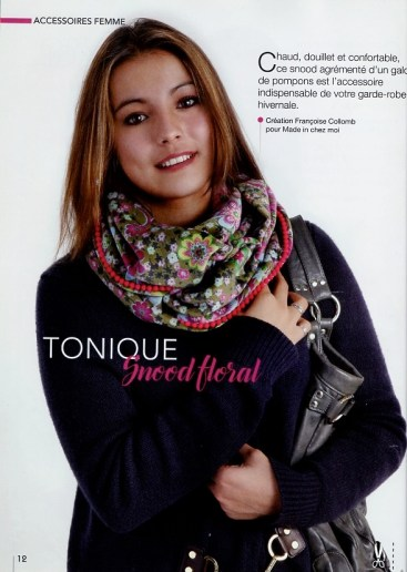 snood floral Françoise Collomb