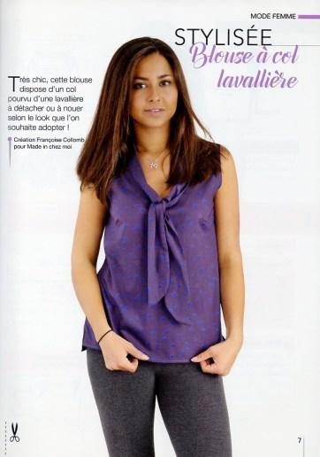 blouse col lavallière Françoise Collomb made in chez moi